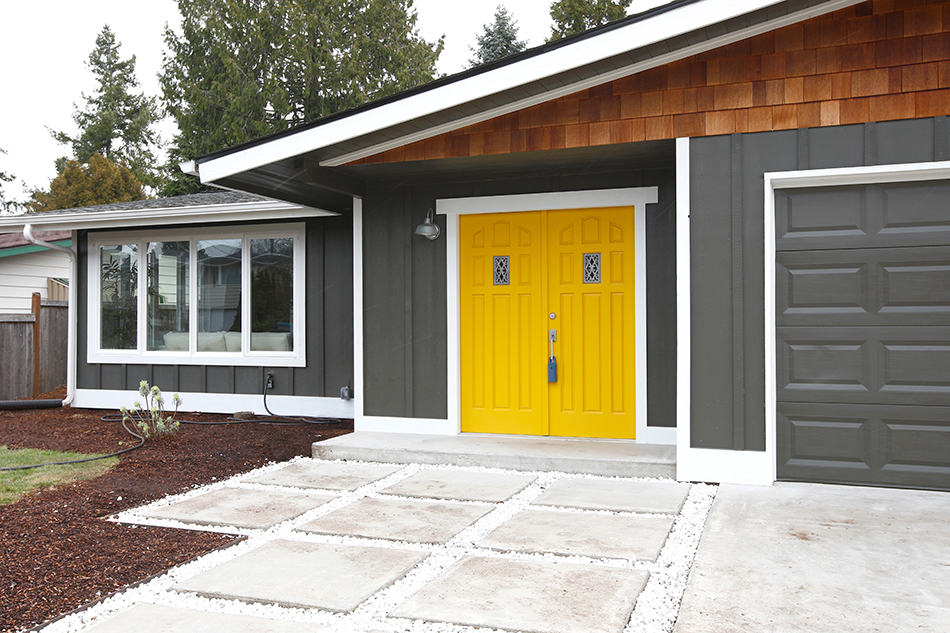 Yellow Door for a Contemporary Home
