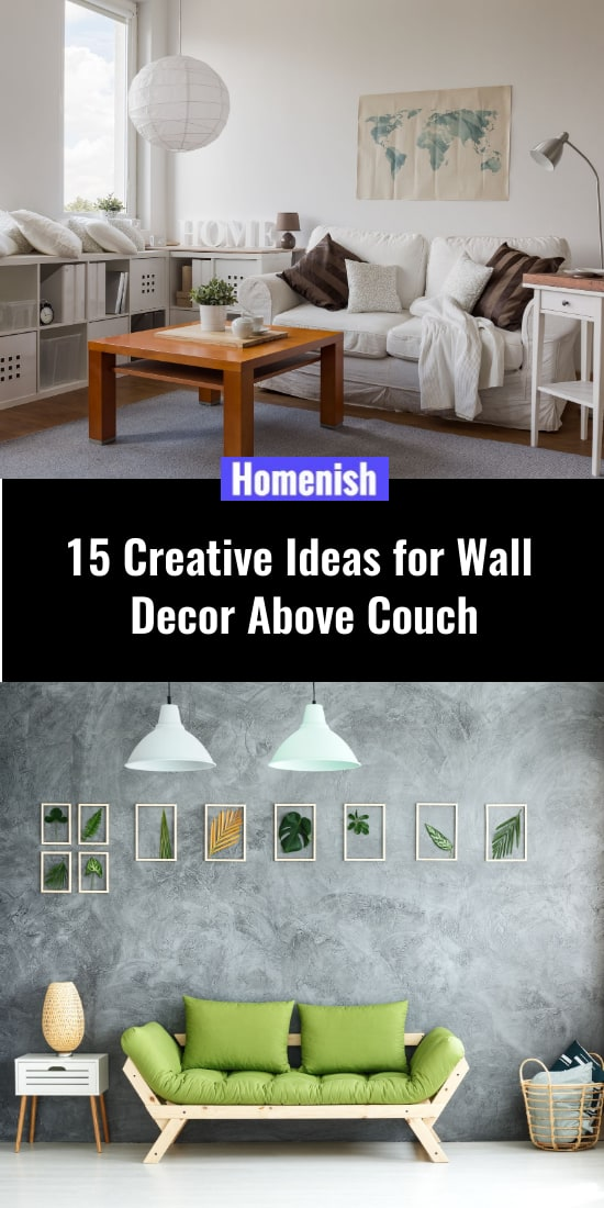 15 Creative Ideas for Wall Decor Above Couch