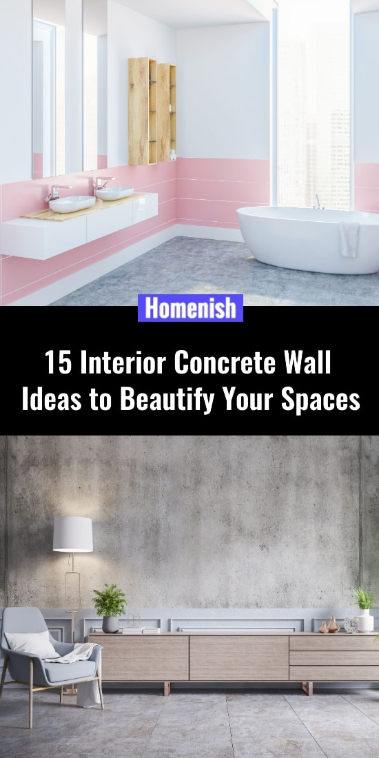 15 Interior Concrete Wall Ideas to Beautify Your Spaces