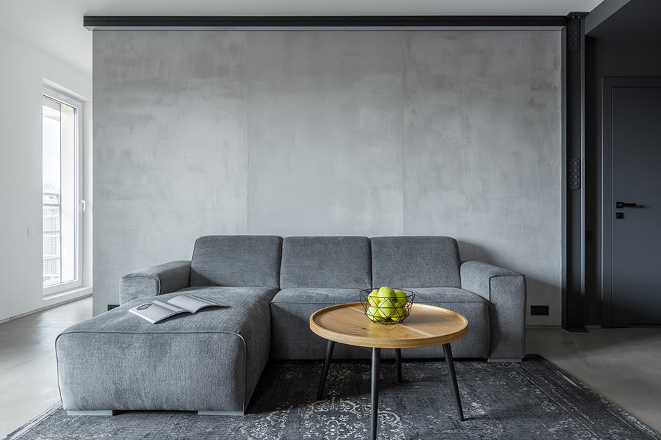 An All-concrete Living Room