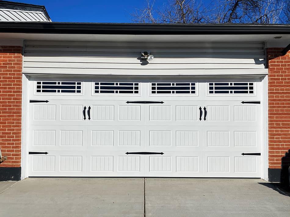Carriage Style Barn Door for a Traditional Touch