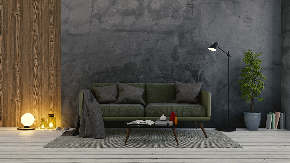 Concrete Walls and Lighting