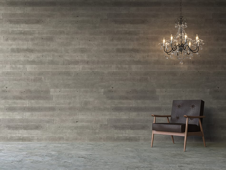 Stamped Concrete Walls for Luxurious Interiors