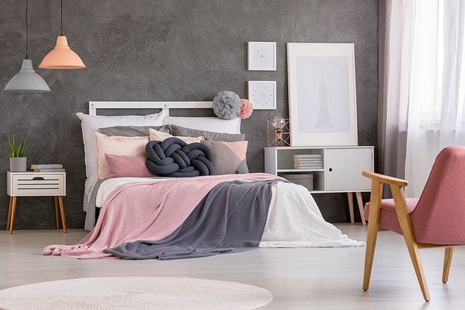 Add A Modern Twist with Grey and Pink