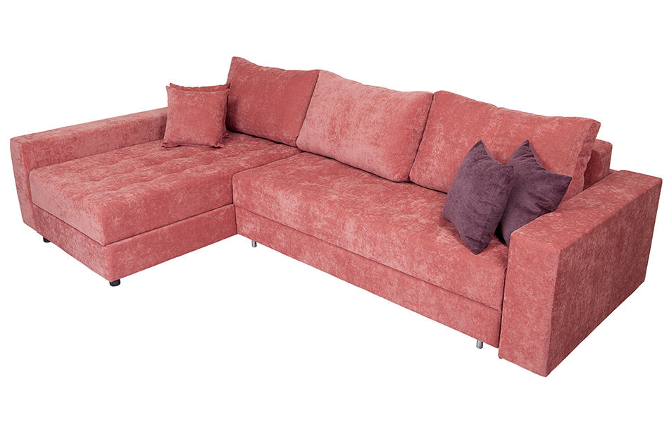Bold Color Sectional to Draw the Eye