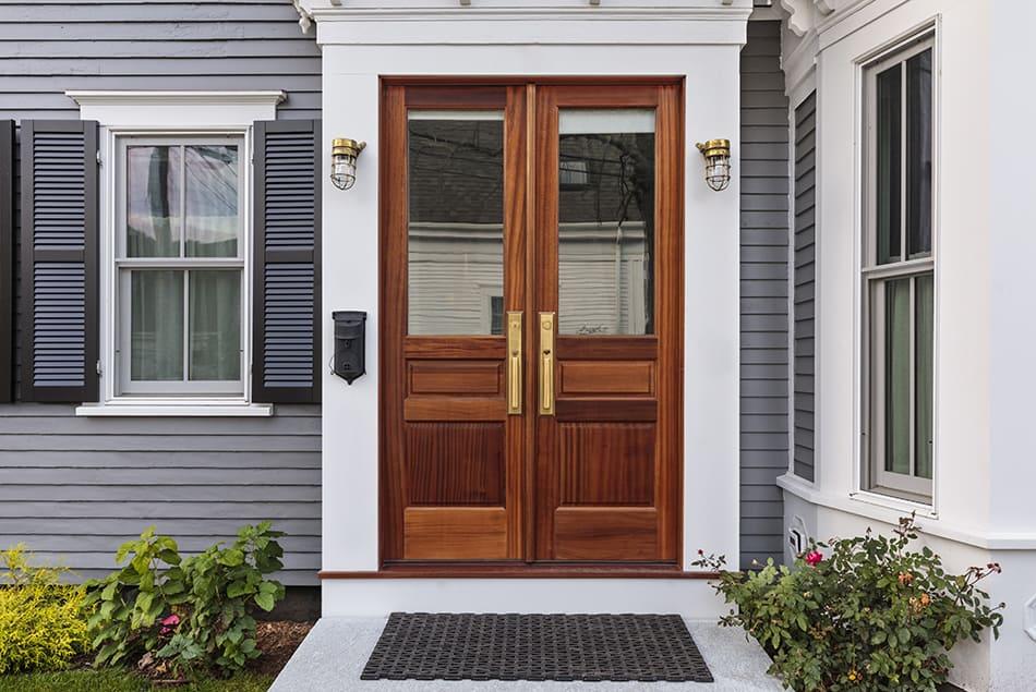 Double Glass Doors