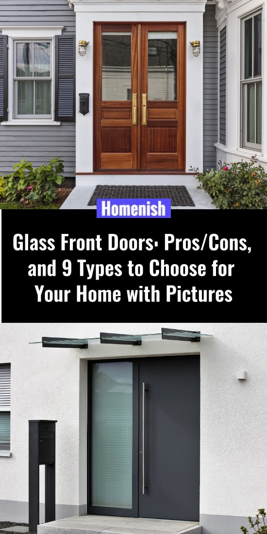 Glass Front Doors ProsCons, and 9 Types to Choose for Your Home with Pictures