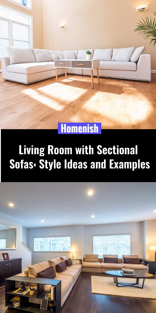 Living Room with Sectional Sofas Style Ideas and Examples