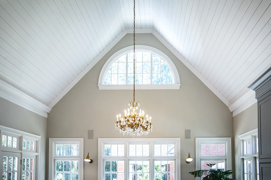 Vaulted Ceiling in a Bright and Airy Living Room