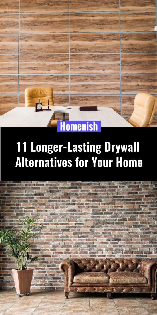 11 Longer-Lasting Drywall Alternatives for Your Home