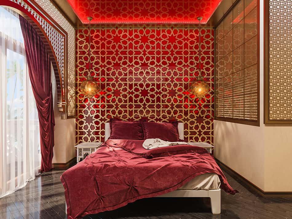 Bold Geometric Motifs in Bedroom