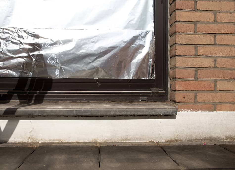 Cover the Window with Aluminum Foil