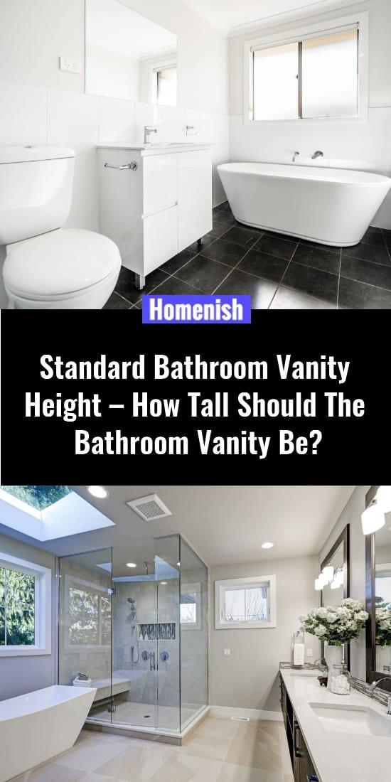 Standard Bathroom Vanity Height – How Tall Should The Bathroom Vanity Be