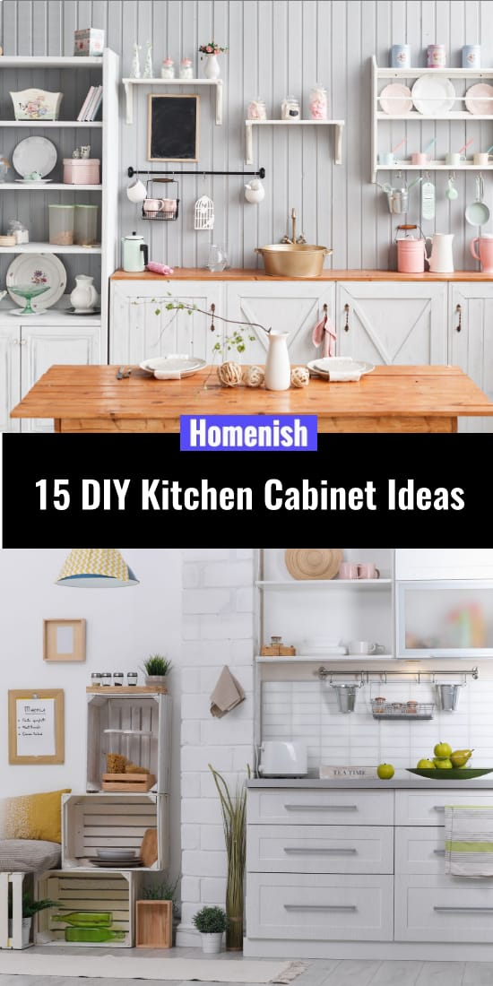 15 DIY Kitchen Cabinet Ideas