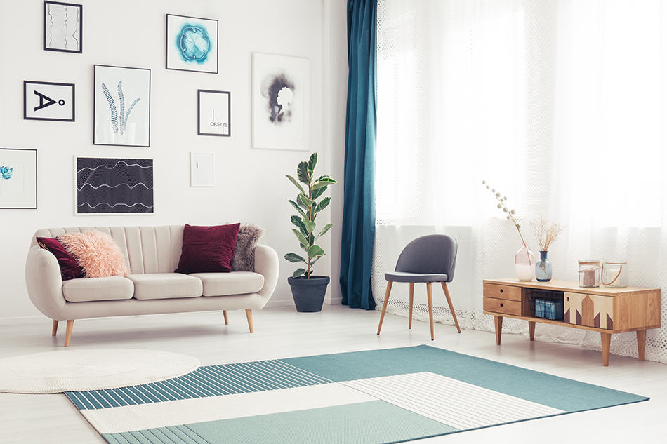 Color Carpet Goes with White Walls