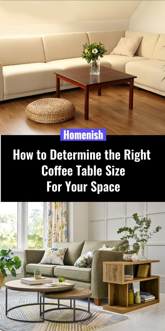 How to Determine the Right Coffee Table Size For Your Space
