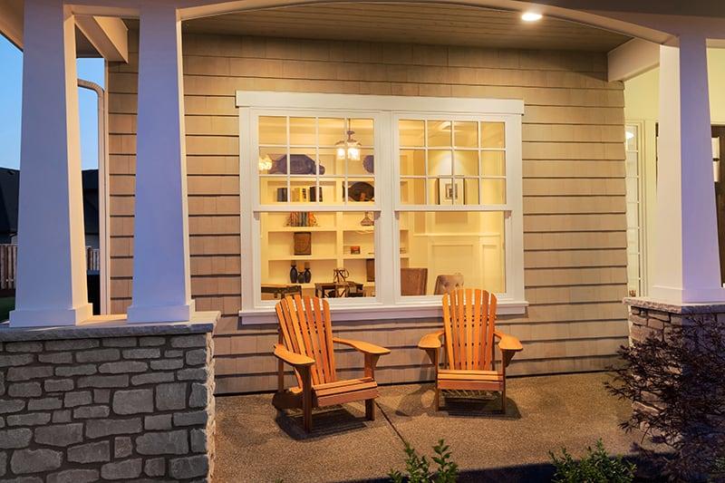 Warm yellow Porch Light