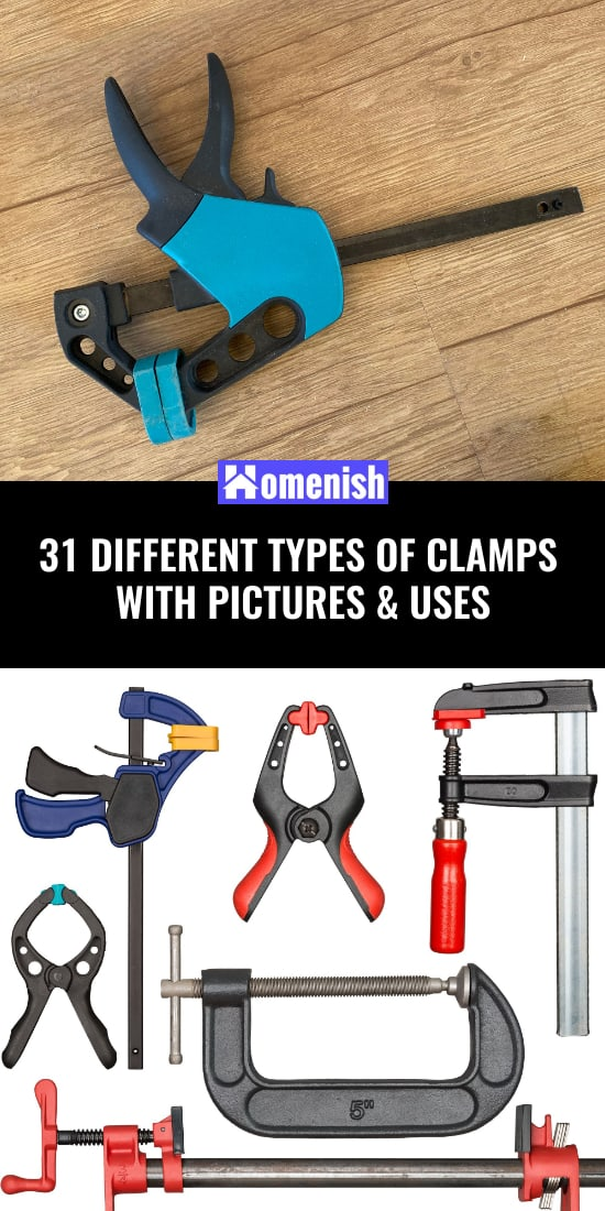 31 Different Types of Clamps with Pictures & Uses