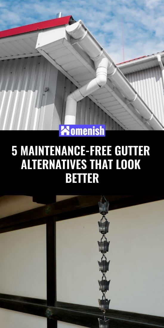 5 Maintenance-Free Gutter Alternatives that Look Better