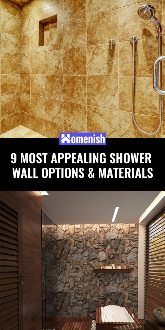 9 Most Appealing Shower Wall Options & Materials
