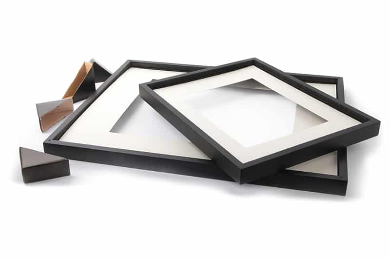 Picture frames with mats
