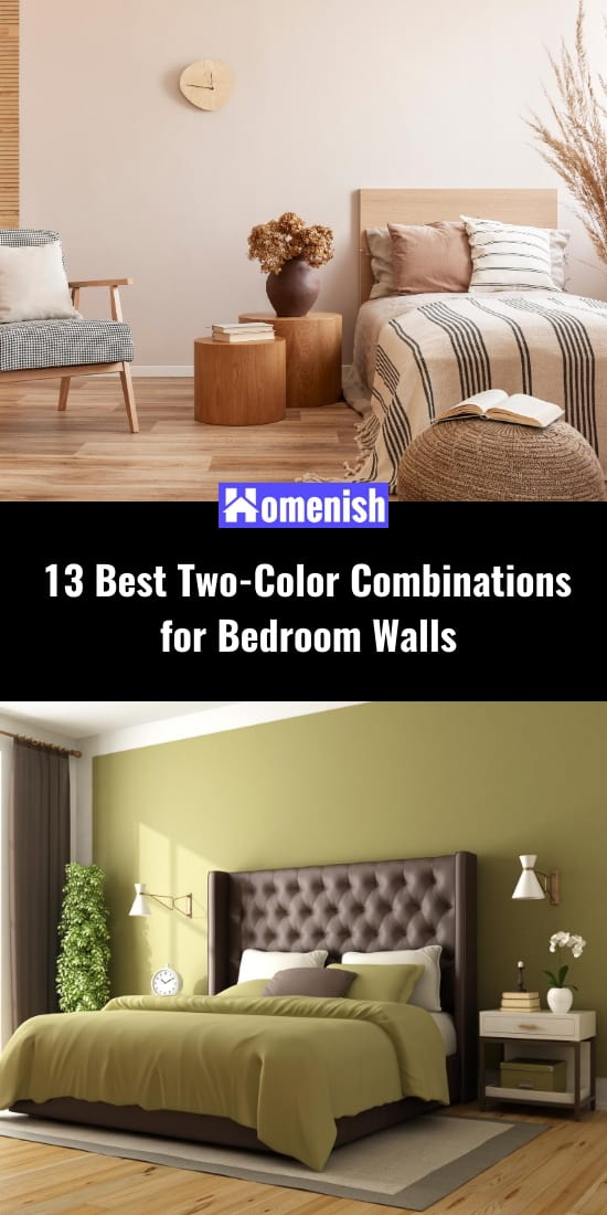 13 Best Two-Color Combinations for Bedroom Walls