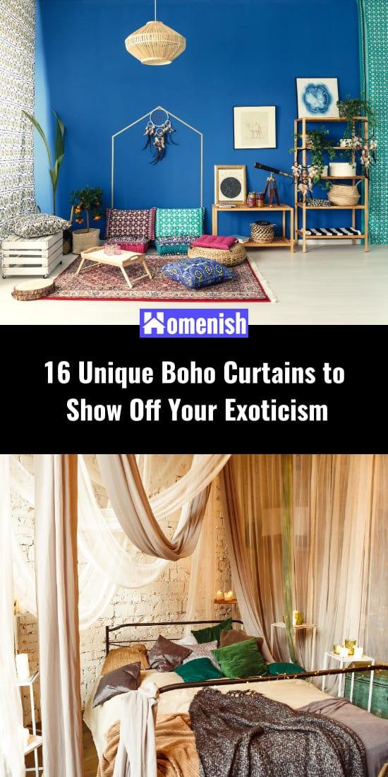 16 Unique Boho Curtains to Show Off Your Exoticism
