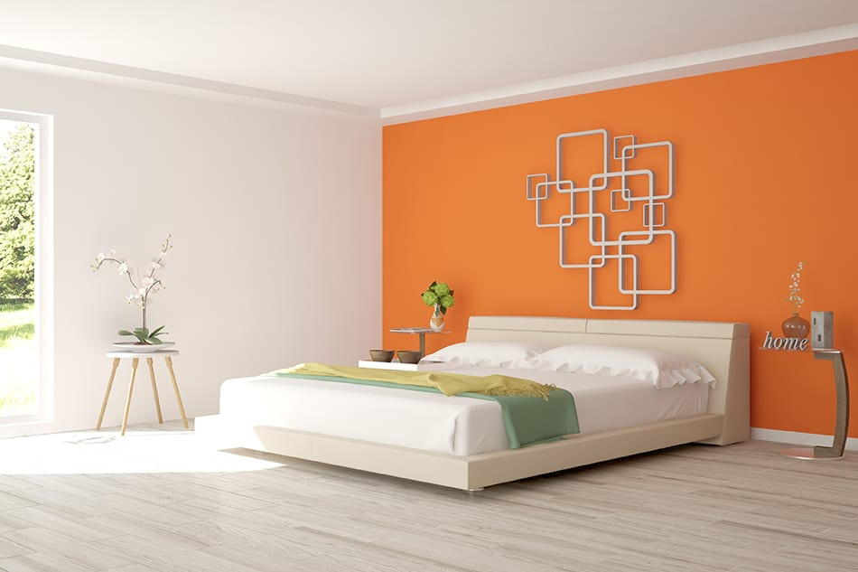 Burnt Orange and White for a Sultry Combination