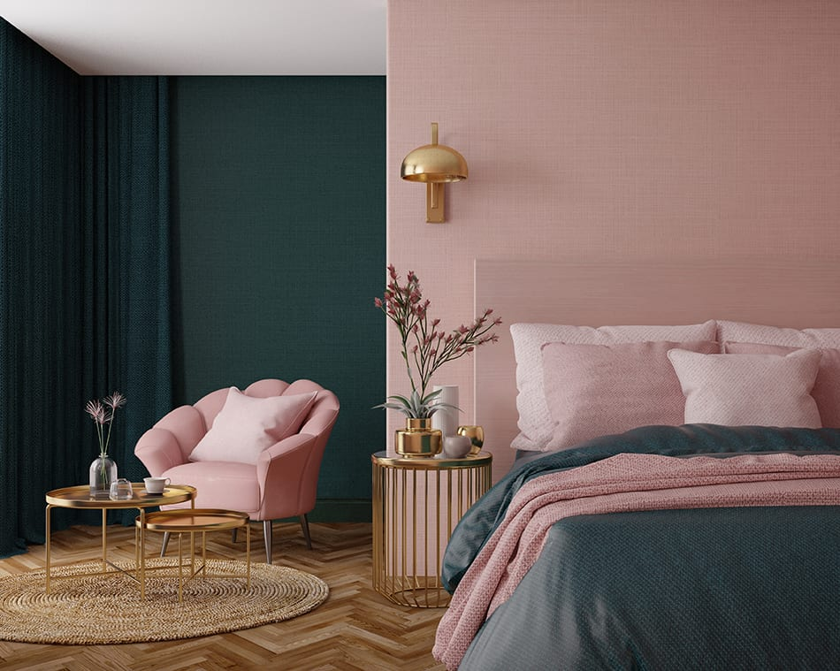 Calming Green and Daring Pink