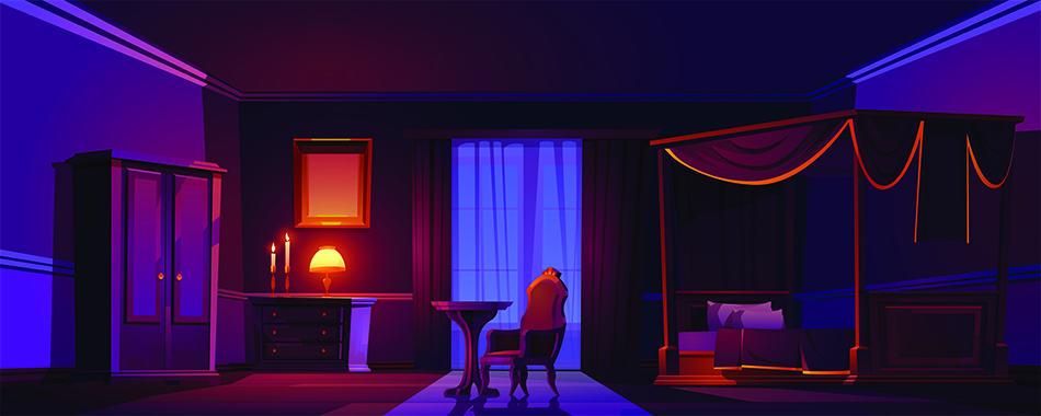 Dark and Heavy Wooden Furniture