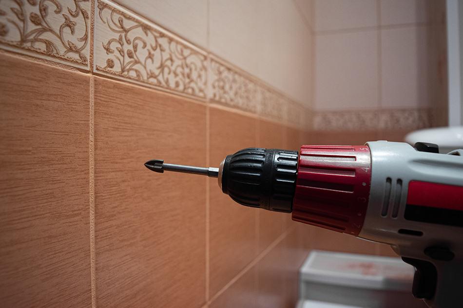 Drill Through Tile