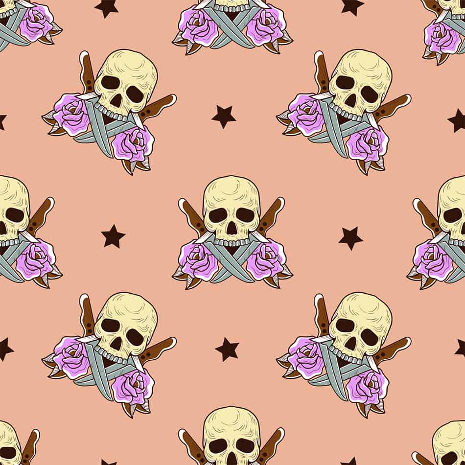 Gothify Your Bed with Skull-patterned Designs