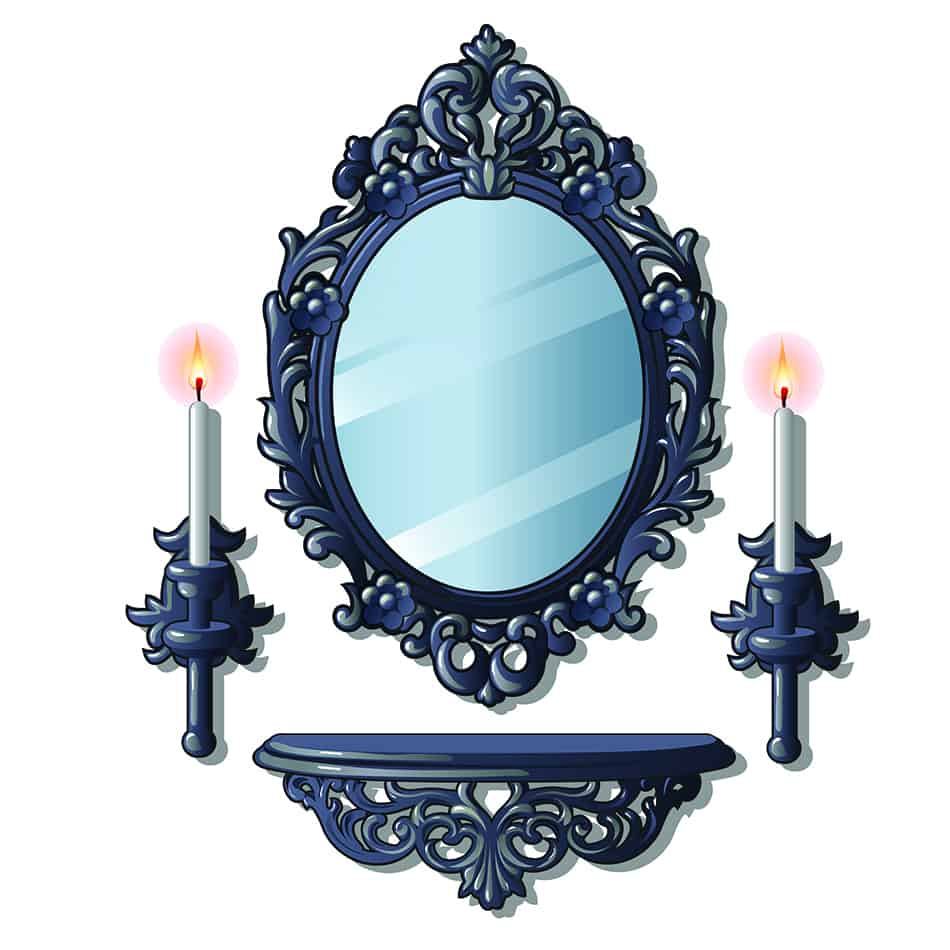 Hang an Ornately Designed Gothic Mirror