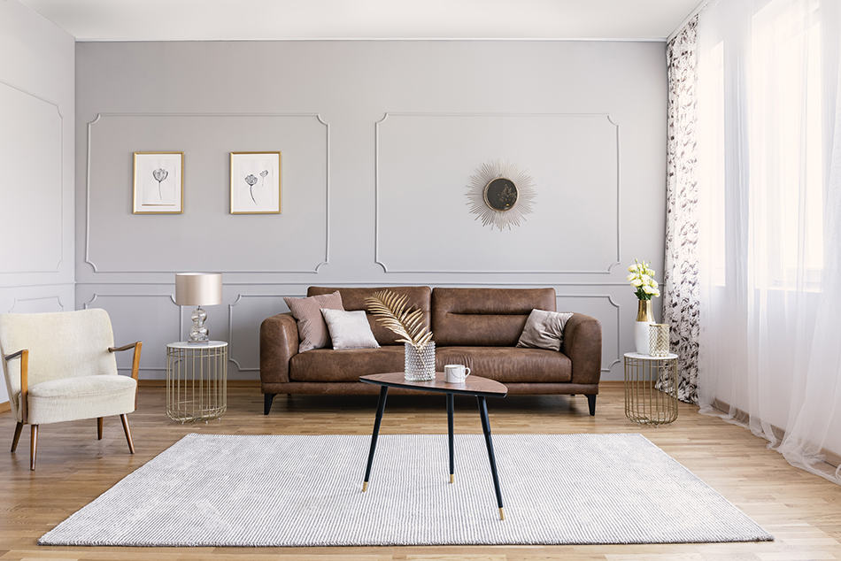 Rug colors that go with brown couches