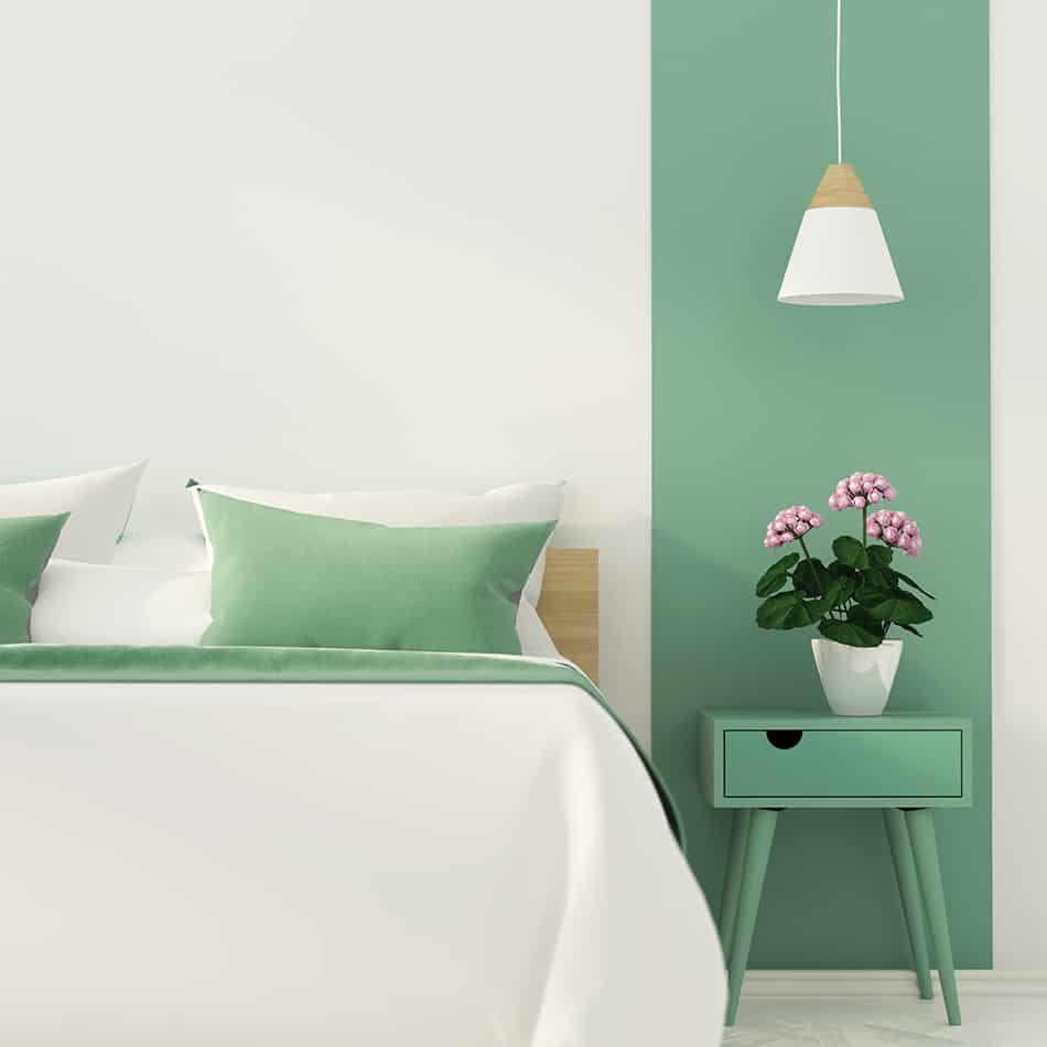 Soften the mood with White and Lush Green