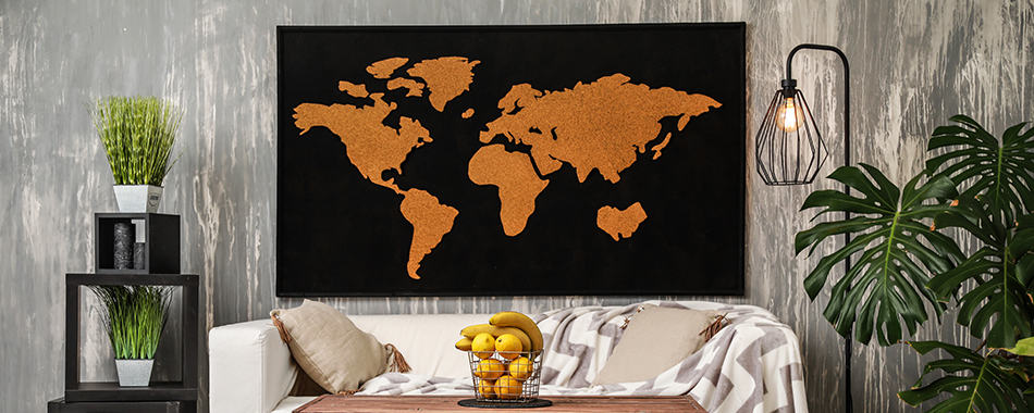 Decorating with maps cover