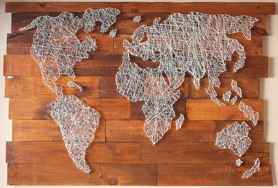 Decorative vintage map of the world