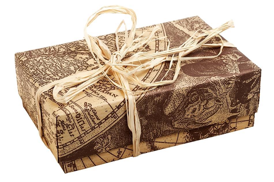 Wooden box as souvenir