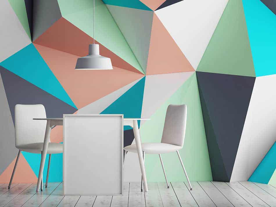 Create Geometric Colorful Wall