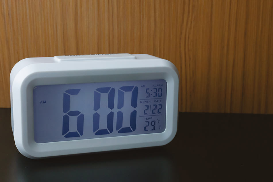 Light sensor Clock