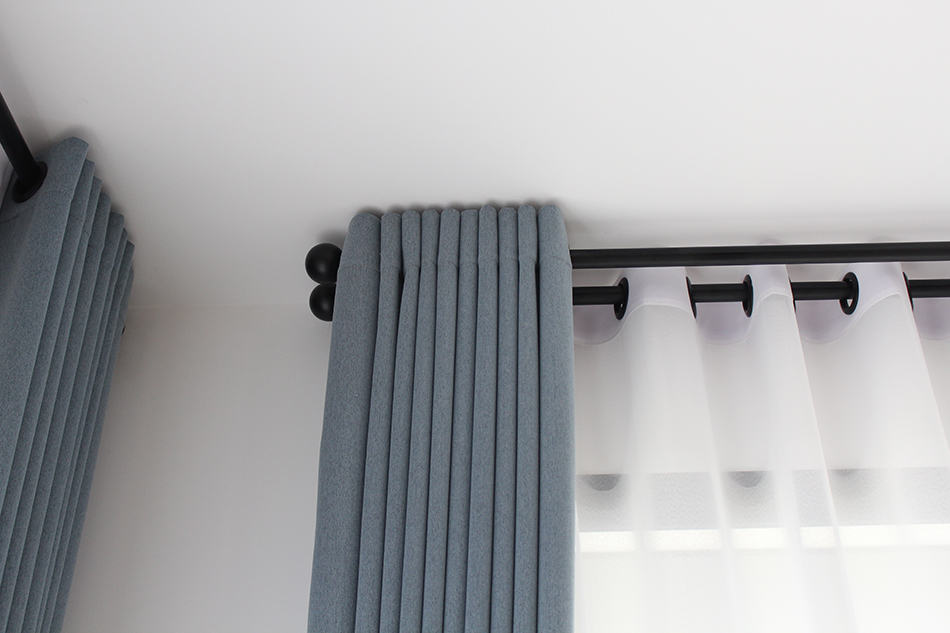 Eyelet-pleated Curtains