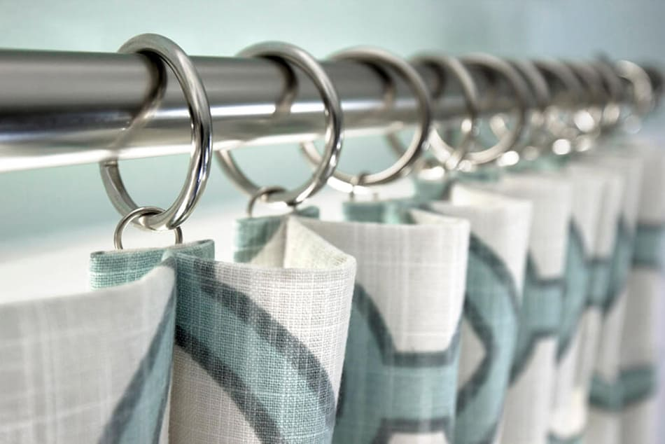 Inverted-pleat curtains
