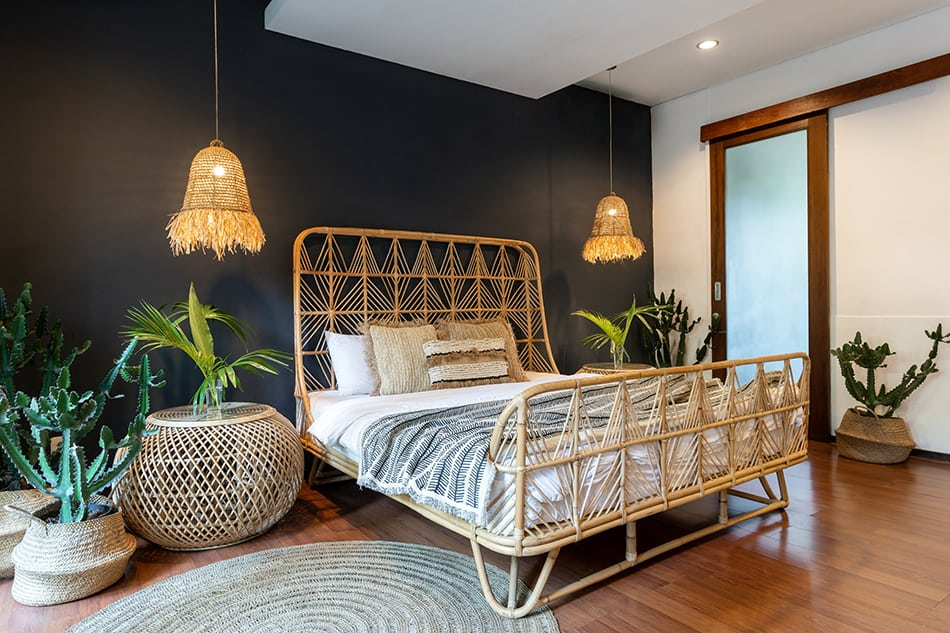 Bamboo Bed and Matching Headboard