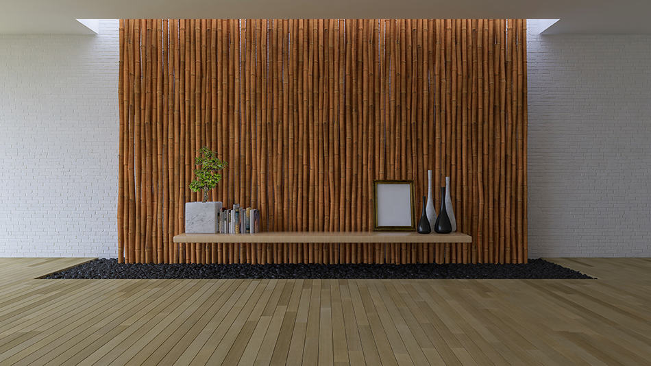 Bamboo as an Accent Wall
