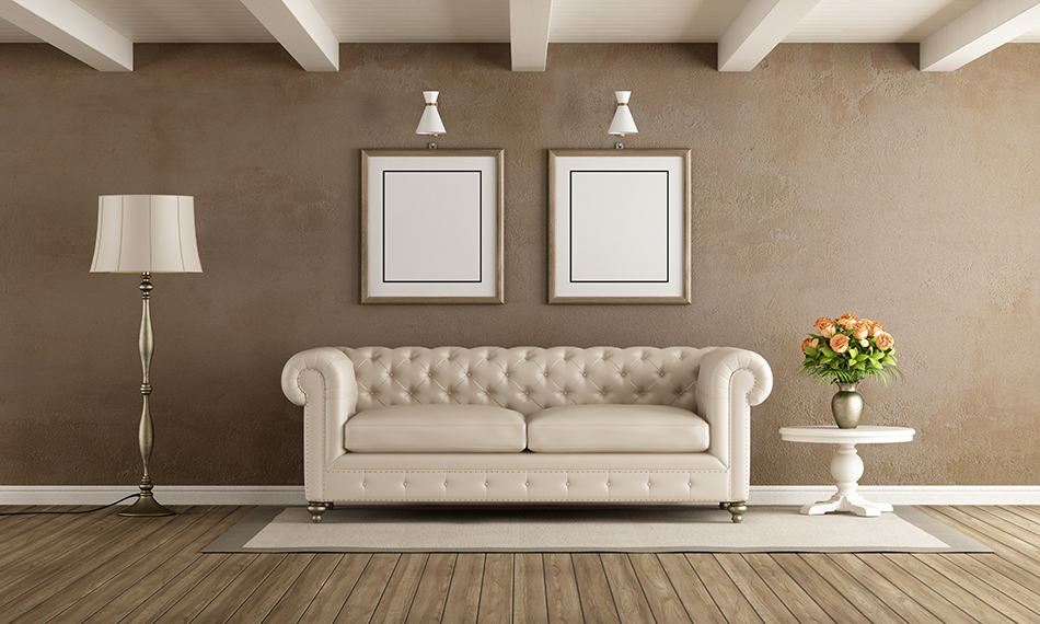 Complement Brown Walls With Classic White