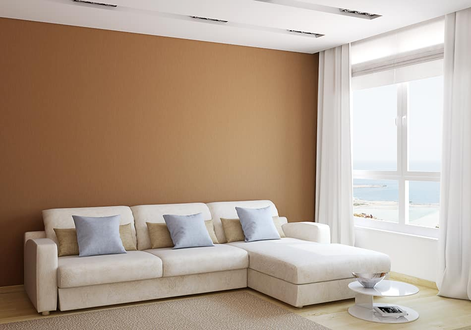 Decorate a Living Room With Brown Walls