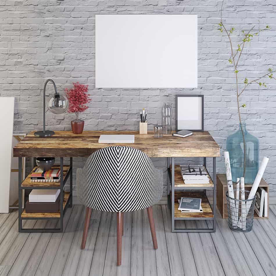 Desks Against a Wall