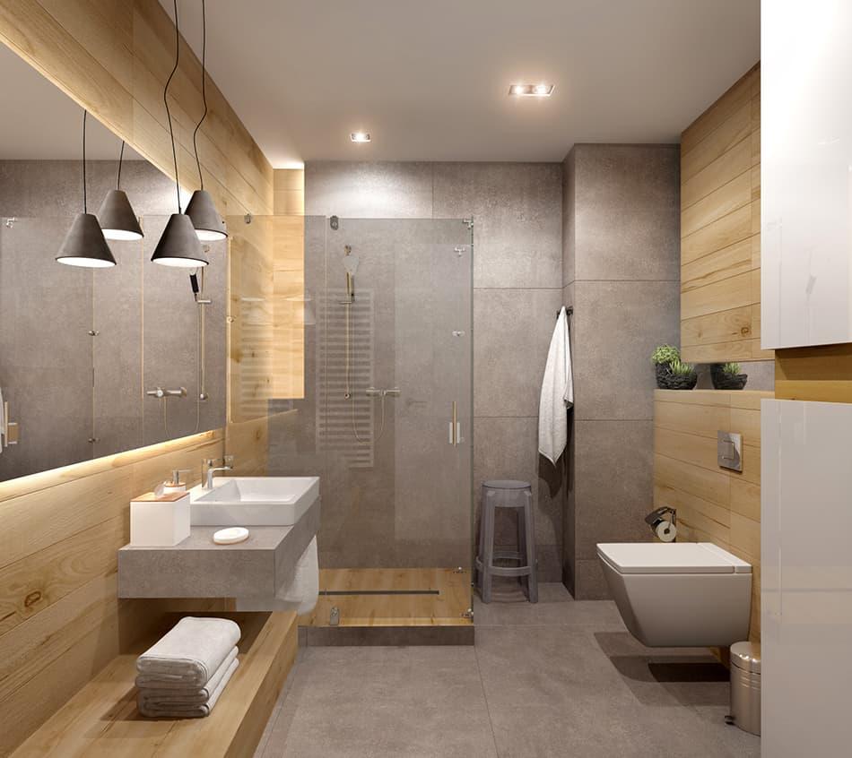 Gray Tiles With Light Brown