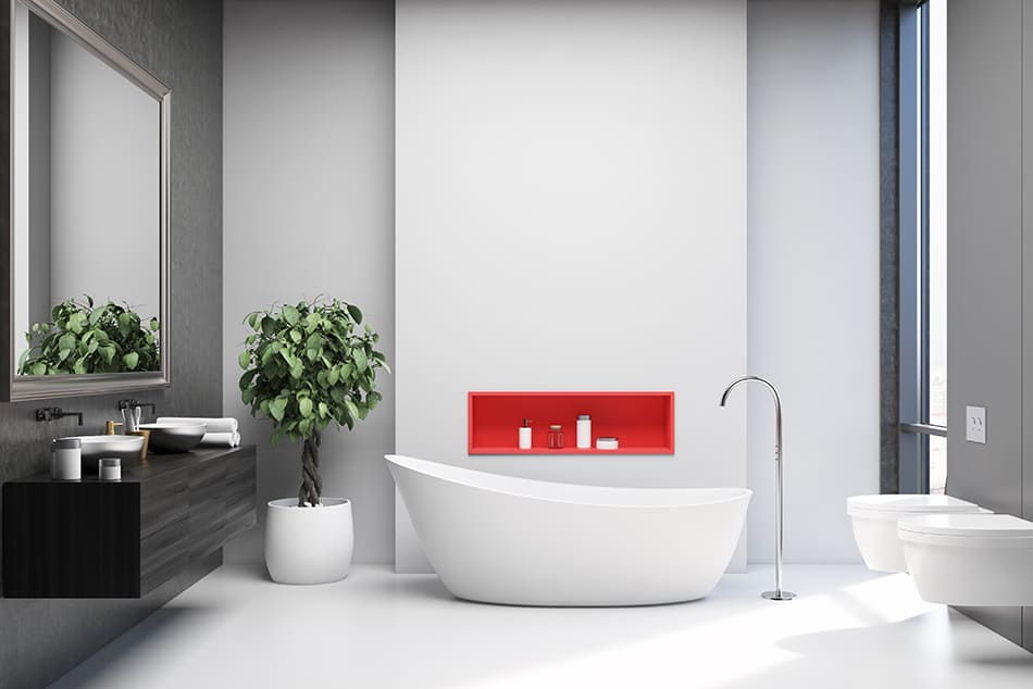 Light Gray Tiles With Bright White