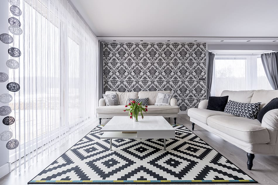 Wallpaper Matching Curtains